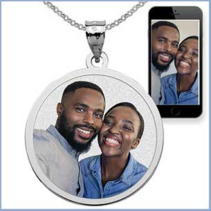 Buy him or her a personalzed photo pendant for this anniversary gift