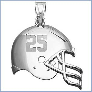 Buy him sports jewelry from his favorite sport for this anniversary gift