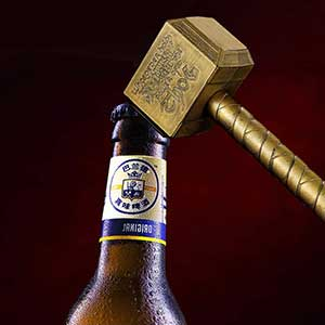Buy him the Thor Brass bottle opener for his 19th anniversary gift