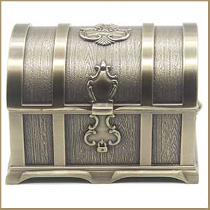 Buy her this Vintage Metal Treasure Chest Trinket Jewelry Box Gift for this anniversary