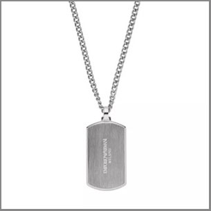 Buy him the Emporio Armani Men's Stainless Steel Dog Tag Pendant for this anniversary gift