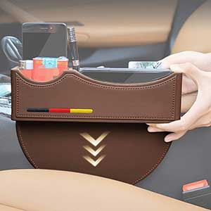 Buy her or him this very useful piece of car equipment, the Car Seat Organizer Front Seat Gap Filler for this anniversary gift