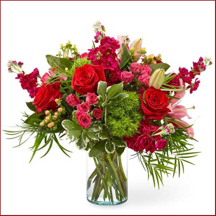 Buy her or the couple these Fairy Tail Bouquet of dark red flowers for this anniversary gift