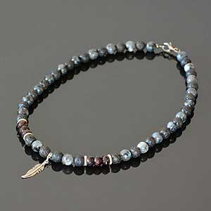 Buy him the Garnet & Black Lava Necklace for this anniversary gift