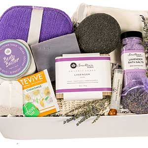 Buy her the Luxurious Lavender Spa Gift for Her anniversary gift