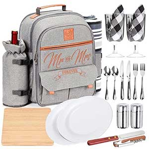Buy them the Mr and Mrs Insulated Picnic Backpack For 2 for this anniversary gift